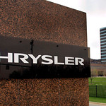 AUBURN HILLS, MI - APRIL 30:  The Chrysler logo is displayed outside of its world headquarters on April 30, 2009 in Auburn Hills, Michigan. Chrysler failed to come to an agreement with all o ...